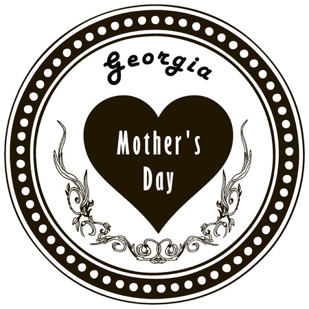 Mothers Day in Georgia - is celebrated on March 3. Vector illustration. Ilustracja