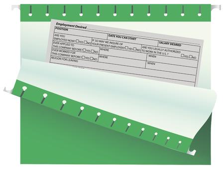 desired: Oficina vac�a forman el trabajo deseado en la carpeta de archivo. Ilustraci�n del vector.