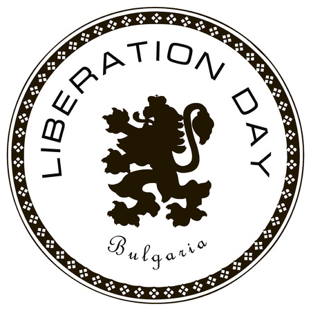 Liberation Day of Bulgaria - is celebrated in March. Vector illustration.