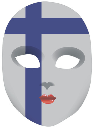 statehood: Classic mask with symbols of statehood of Finland. Vector illustration