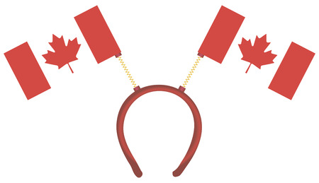 Witty headdress with flags Canada. Vector illustration.