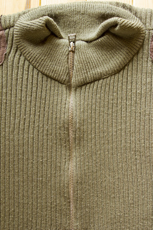 at close quarters: Zip sweater, which is used in the army units.