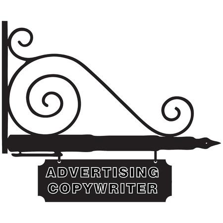 copywriter: Street signs for the firm Advertising Copywriter. Vector illustration.