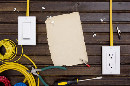 receptacle: Equipment and tools for installing electrical outlets and switches.