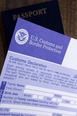 access granted: Documents for the passage of the visa and customs control.