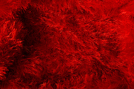 red background: Woven fabrics of yarn cropped. Red background. Stock Photo