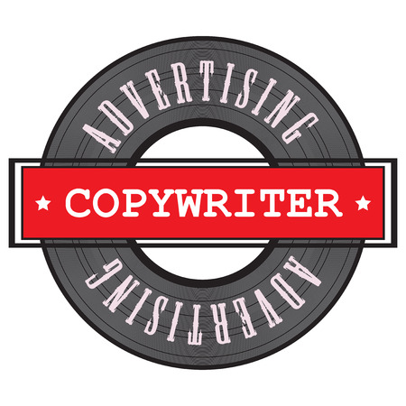 Advertising Copywriter symbol for the people working in this business. Vector illustration.