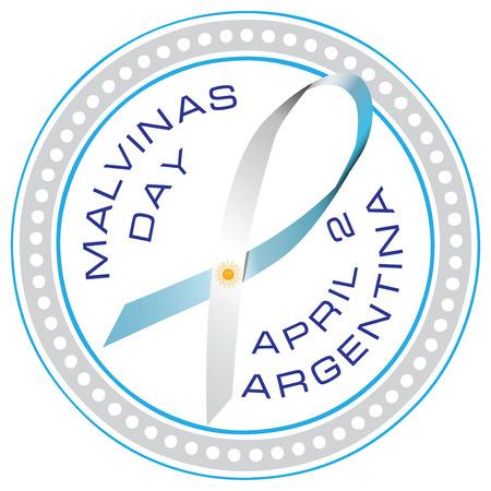 Day Veterans Memorial in Argentina - Malvinas Day. Vector illustration.