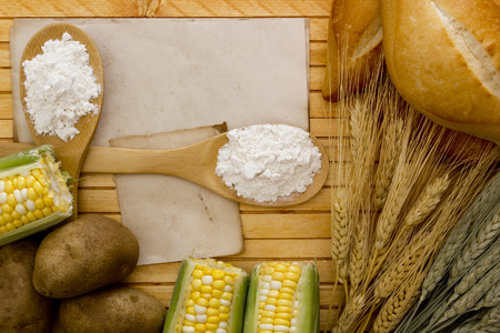 Flour and starch products out of which these ingredients. photo