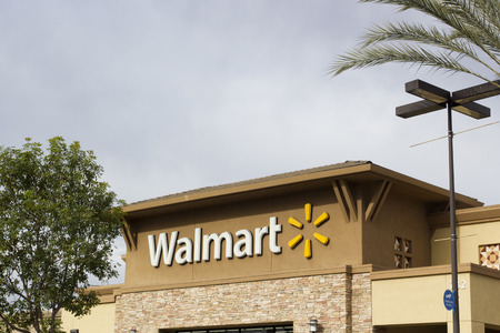 Wal-Mart store in San Diego, California, USA, March 2015 - external sign.