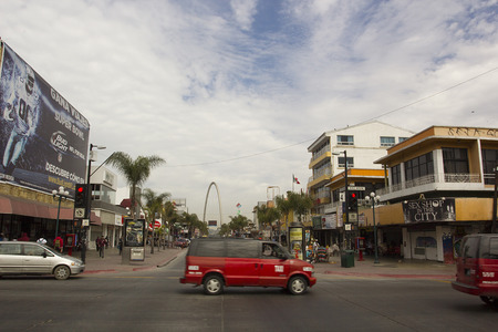 Junction on the main street of Tijuana - the city of Tijuana, Mexico, in March, 2015.