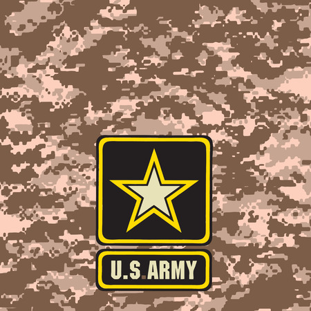 Beige Army camouflage background for use in the field. Vector illustration.