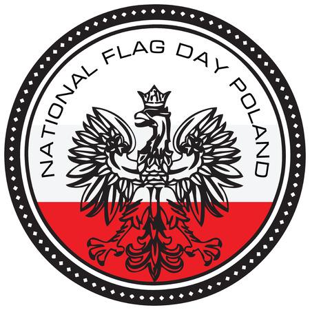patriotic eagle: Event symbol National Flag Day Poland. Vector illustration.