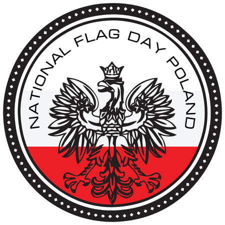 Event symbol National Flag Day Poland. Vector illustration.