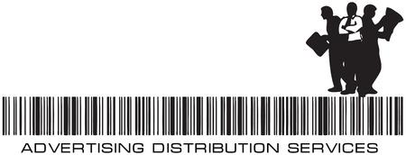 Barcode Agency - Reclame Distribution Services. Vector illustratie. Stock Illustratie