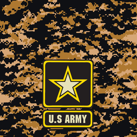 Dark brown army camouflage background for use in the field. Vector illustration.