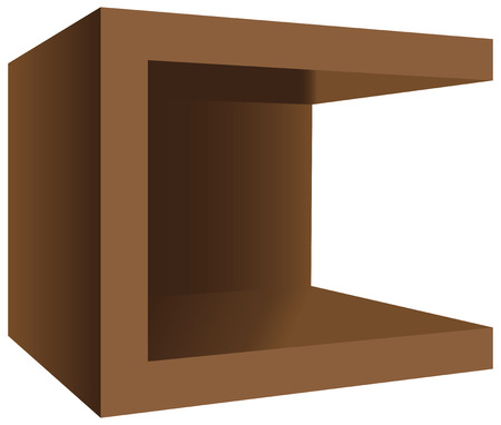 nightstand: Modern square wooden nightstand for a bed and a living room. Vector illustration.