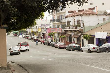Street located in downtown Tijuana - next street revolution, Tijuana, Mexico, in March 2015. photo