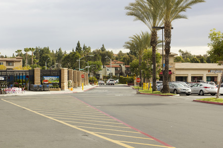 Cars in the parking lot - March 2015, San Diego, before Wal-Mart store.