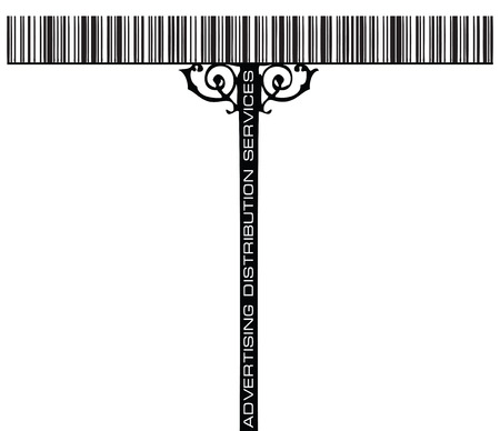 street signs: Creative street signs, Advertising Distribution Servises, using the bar code. Vector illustration.