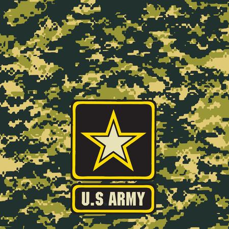 어두운 녹색 육군 위장 배경 필드에서 사용합니다. 벡터 일러스트 레이 션.