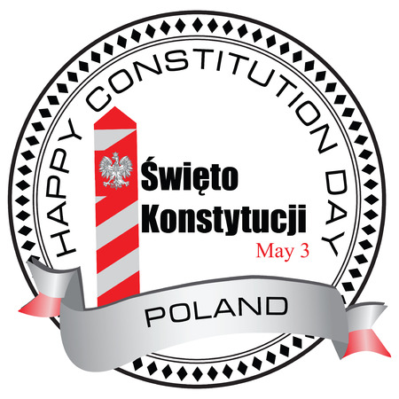 Constitution Day - May 3 in Poland. Vector illustration. Illusztráció