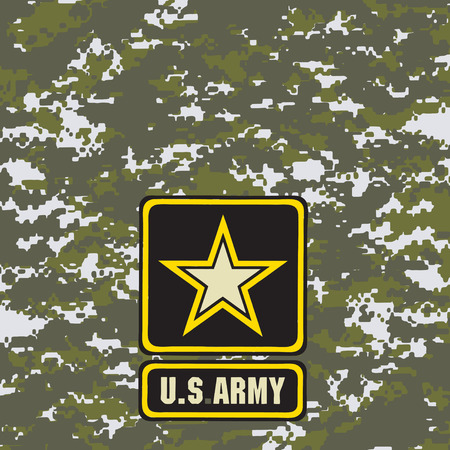 Green army camouflage background for use in the field. Vector illustration.