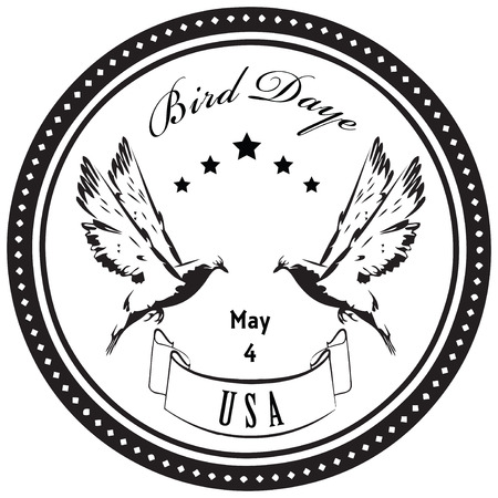 Bird Day - May 4 - celebrated in the United States. Vector illustration. Vector