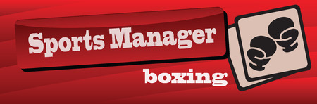Banner sports manager in boxing. Vector illustration. 向量圖像