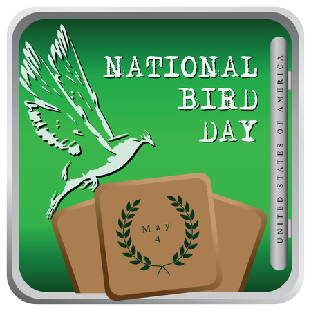 Bird Day - United States of America, May 4. Vector illustration. Vector