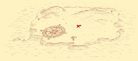 isla del tesoro: La isla del tesoro con un lugar tesoro enterrado.