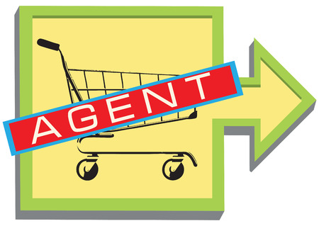 sales agent: The symbol for the sales agent. Vector illustration. Illustration