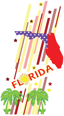 advertise with us: Banner Florida for the presentation of the southern US state. Vector illustration. Illustration