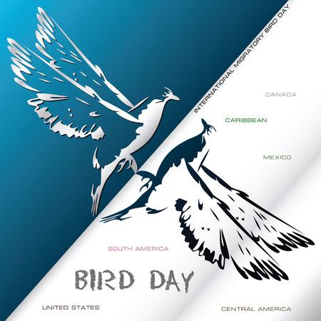 Poster International Migratory Bird Day. Vector illustration. Vector