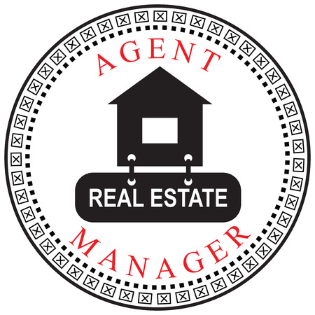 manager: Creative symbol of the Agent or Manager, a real estate.