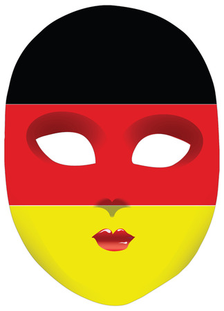 alteration: Classic mask with symbols of statehood of Germany.