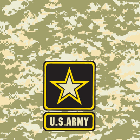 Light green army camouflage background for use in the field. Ilustração