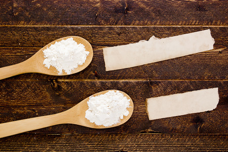 starch: Wooden spoon with flour and starch. Supporting Information.