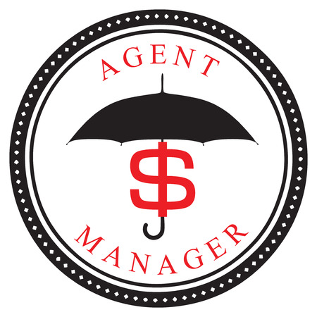 manager: Creative symbol - Financial Agent - Manager.  Illustration