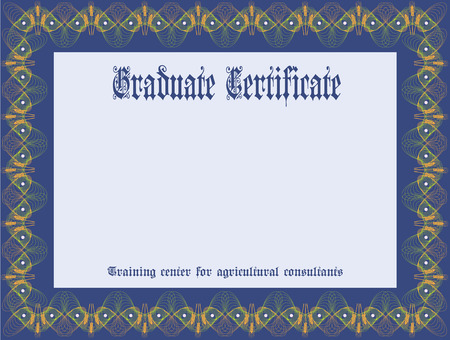 consultants: Certificate Training Center of agricultural consultants. Vector illustration. Illustration