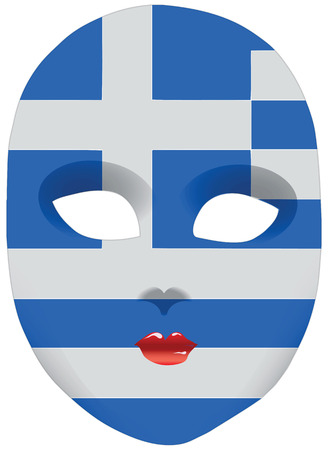Classic Mask With Symbols Of Statehood Of El Salvador Vector