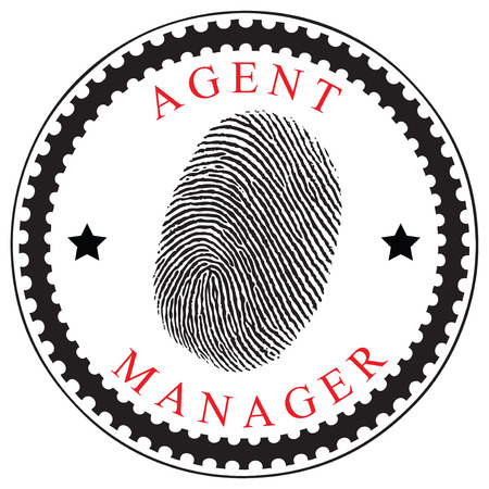 manager: Creative symbol identifying an agent or manager. Vector illustration. Illustration