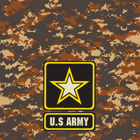 Mountain Army camouflage background for use in the field. Vector illustration.