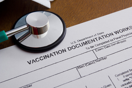 filling in: Vaccination Documentation sheet for filling in the performance of vaccination.