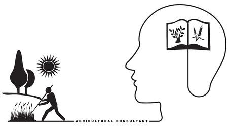 agricultura: Especialista en Agricultura - Consultor Agr�cola. Ilustraci�n del vector.