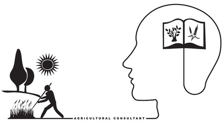 Specialist in Agriculture - Agricultural Consultant. Vector illustration.