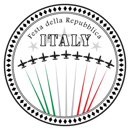 national holiday: Festa della Repubblica - National holiday in Italy. Vector illustration. Illustration