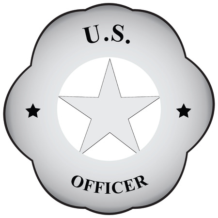 Abstract symbol officer to carry on the form. Vector illustration. Illustration