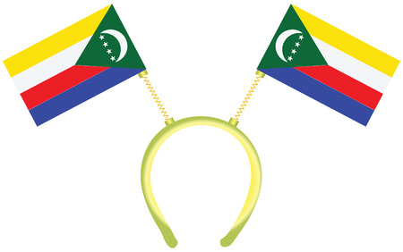 Witty headdress with flags Comoros. Vector illustration.