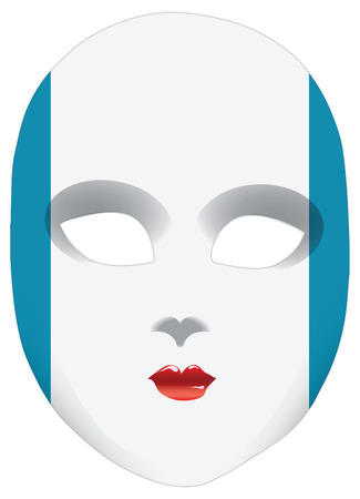 statehood: Classic mask with symbols of statehood of Guatemala. Vector illustration